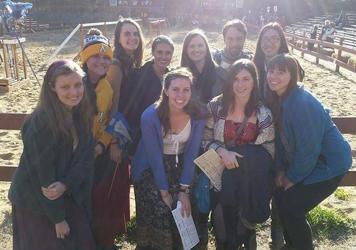 History Club members at the Renaissance Festival