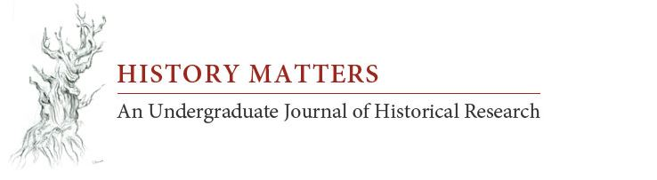 History Matters An Undergraduate Journal of Historical Research logo